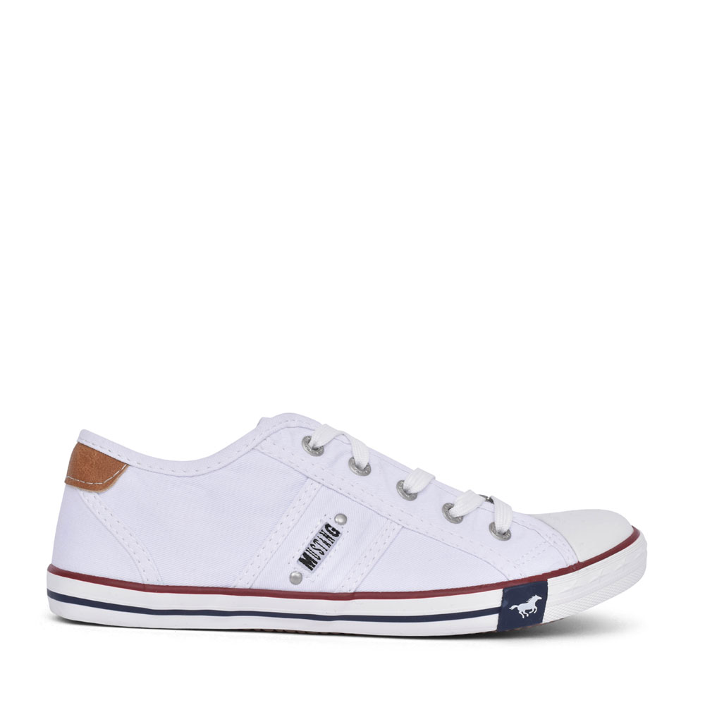 LADIES 1099302 LACE UP SHOE in WHITE