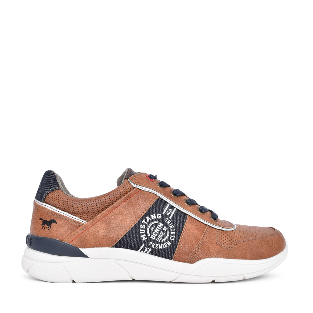 MENS 4138307 LACE UP TRAINER in TAN