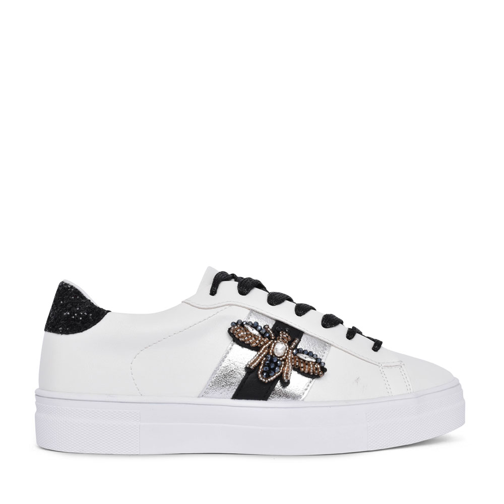 LADIES 97198 LACE UP SHOE in WHITE