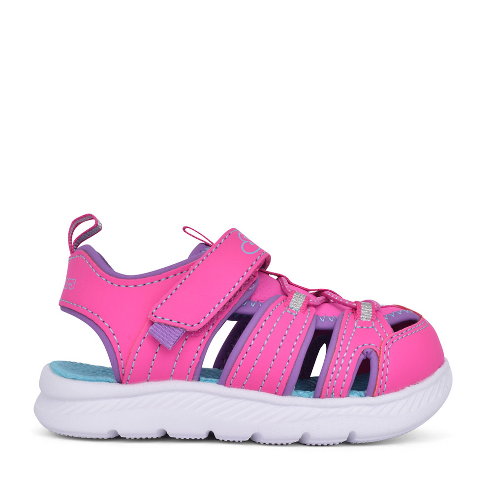 GIRLS 302100N C-FLEX 2.0 VELCRO CUT OUT SANDAL in PINK
