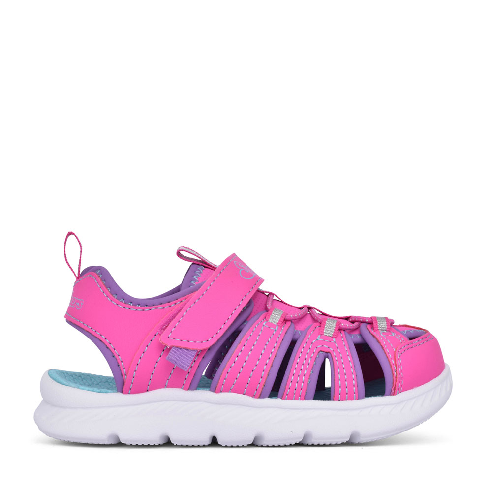 GIRLS 302100L C-FLEX 2.0 VELCRO CUT OUT SANDAL in PINK
