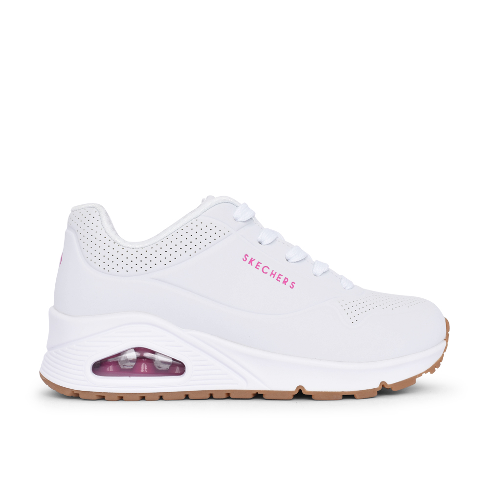 GIRLS 310024L UNO STAND ON AIR LACED TRAINER in WHITE