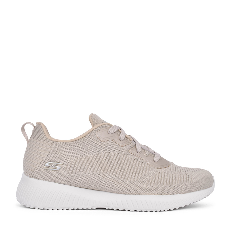 LADIES 32504 BOBS SQUAD TOUGH TALK LACE UP TRAINER in NATURAL