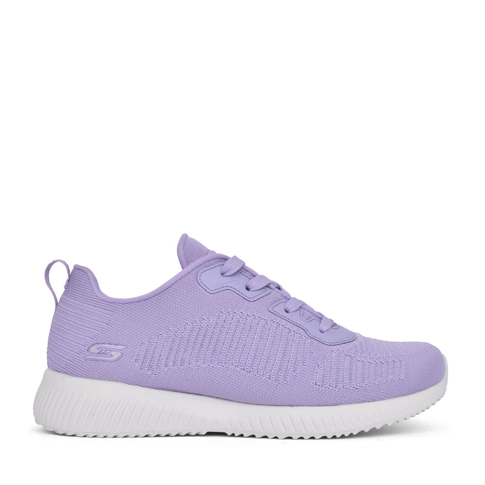 LADIES 117067 BOBS SQUAD LACE UP TRAINER in LAVENDER