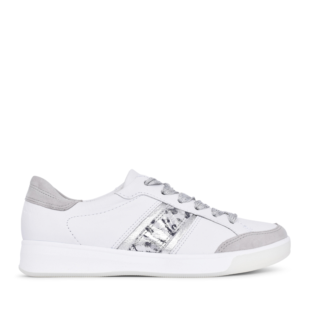 LADIES 12-34471 ROM LACE UP SHOE in WHITE