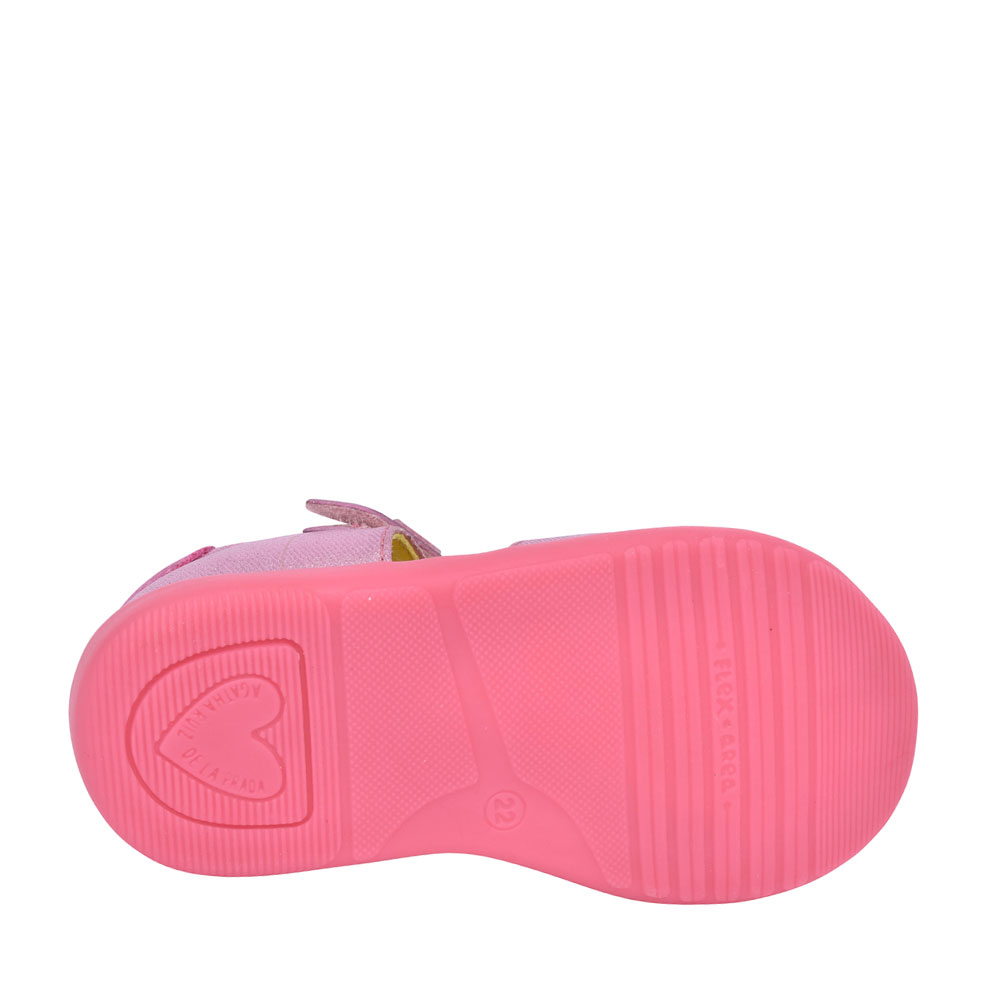 GIRLS 212902 CUT OUT VELCRO SHOE in PINK