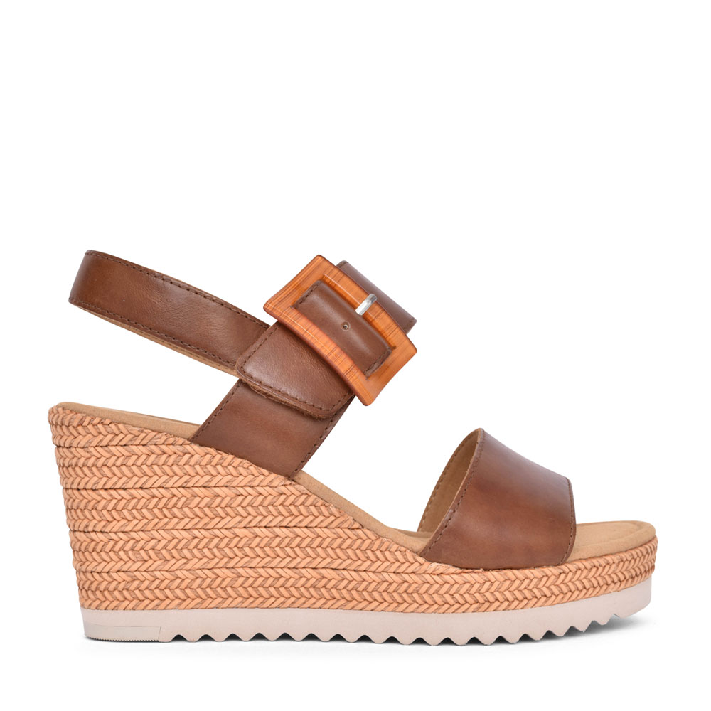 LADIES 65.795 WILD WEDGE SANDAL in TAN