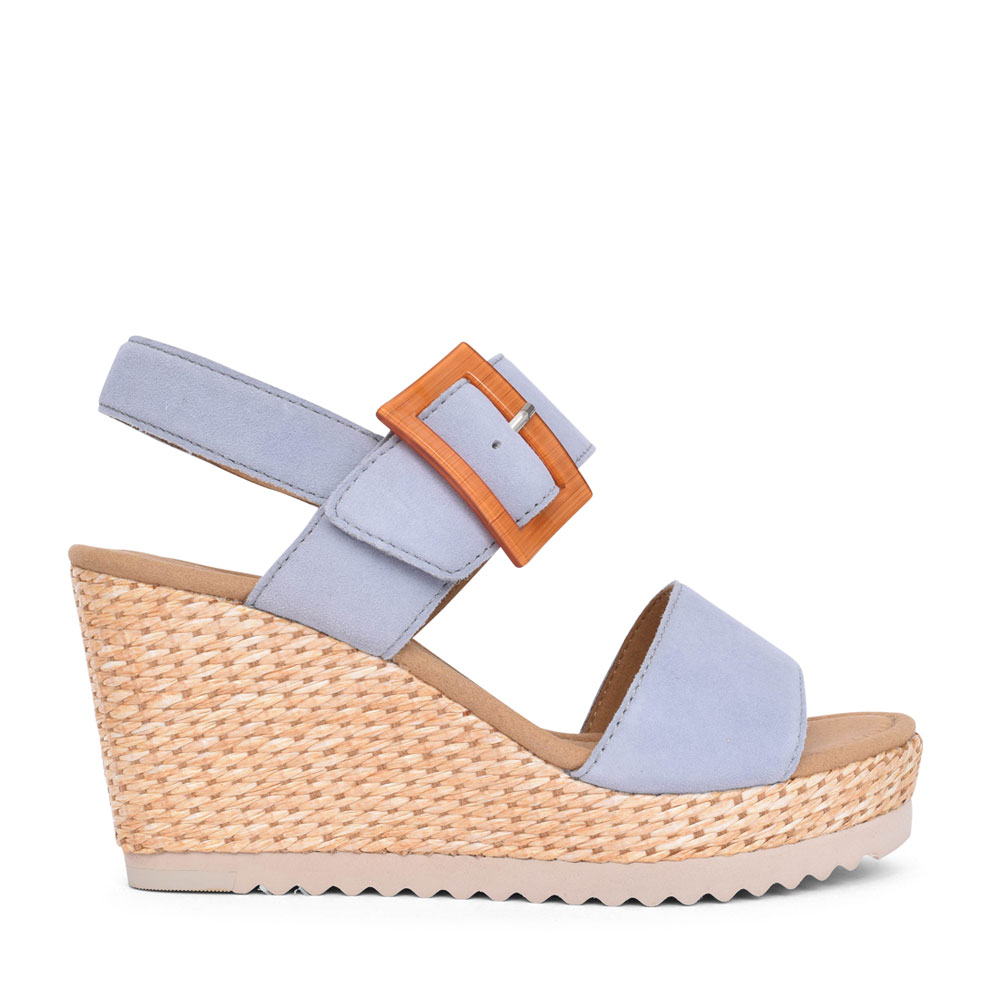 LADIES 65.795 WILD WEDGE SANDAL in SKY BLUE