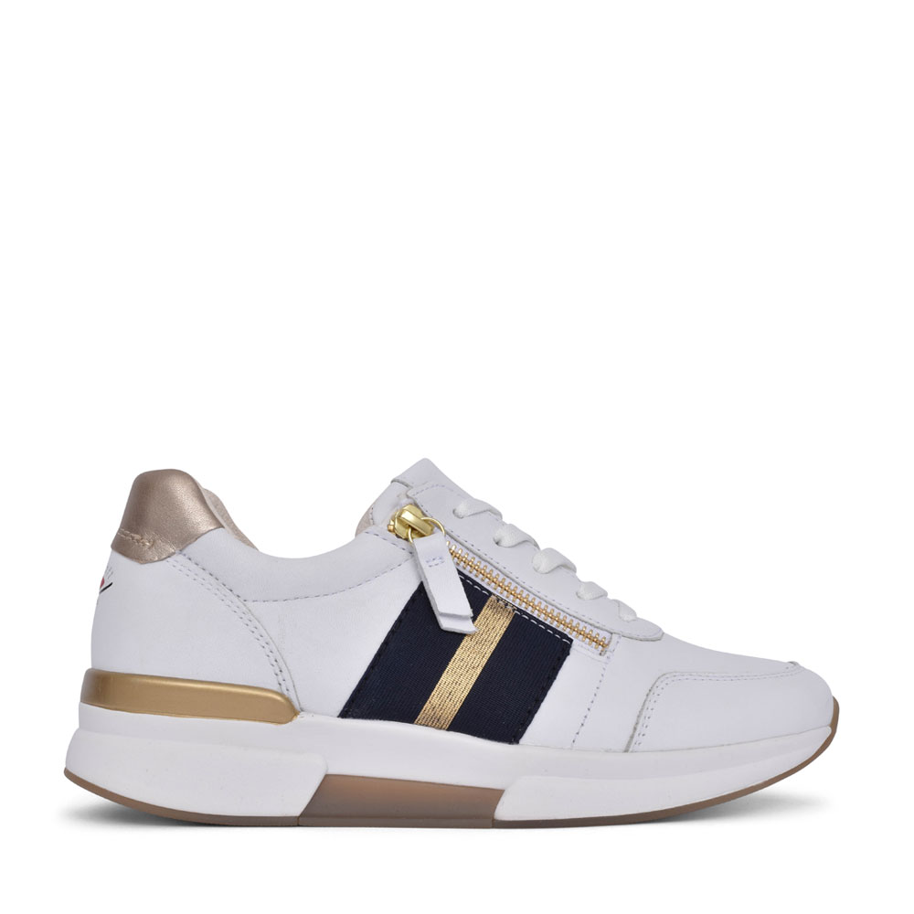 LADIES 66.928 QUEEN LACE UP TRAINER in WHITE