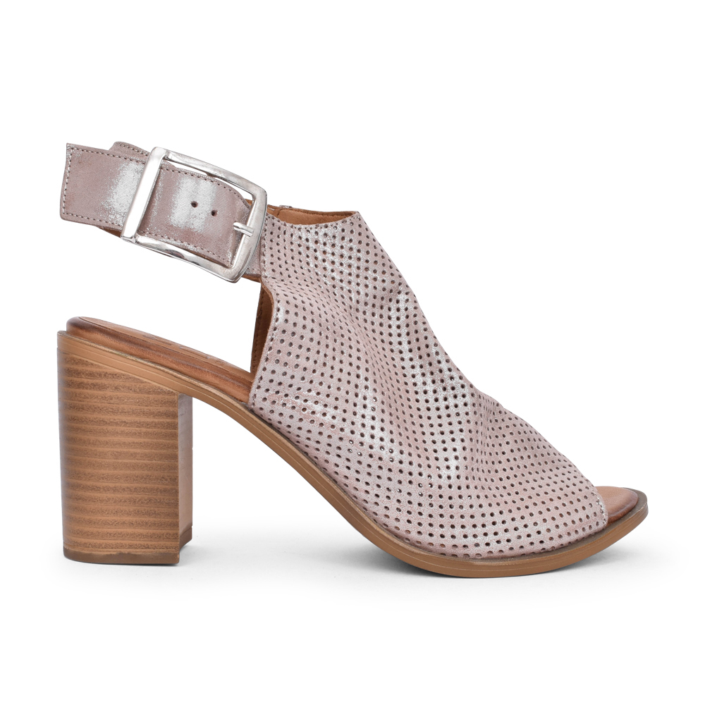 LADIES LALAINE MEDIUM HEEL SANDAL in METALLIC