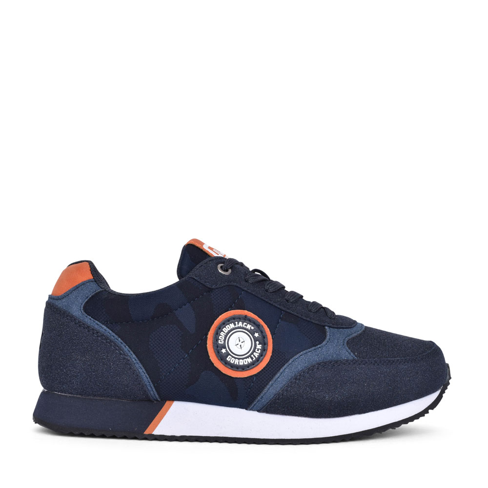 MENS BRISBANE LACE UP TRAINER in NAVY