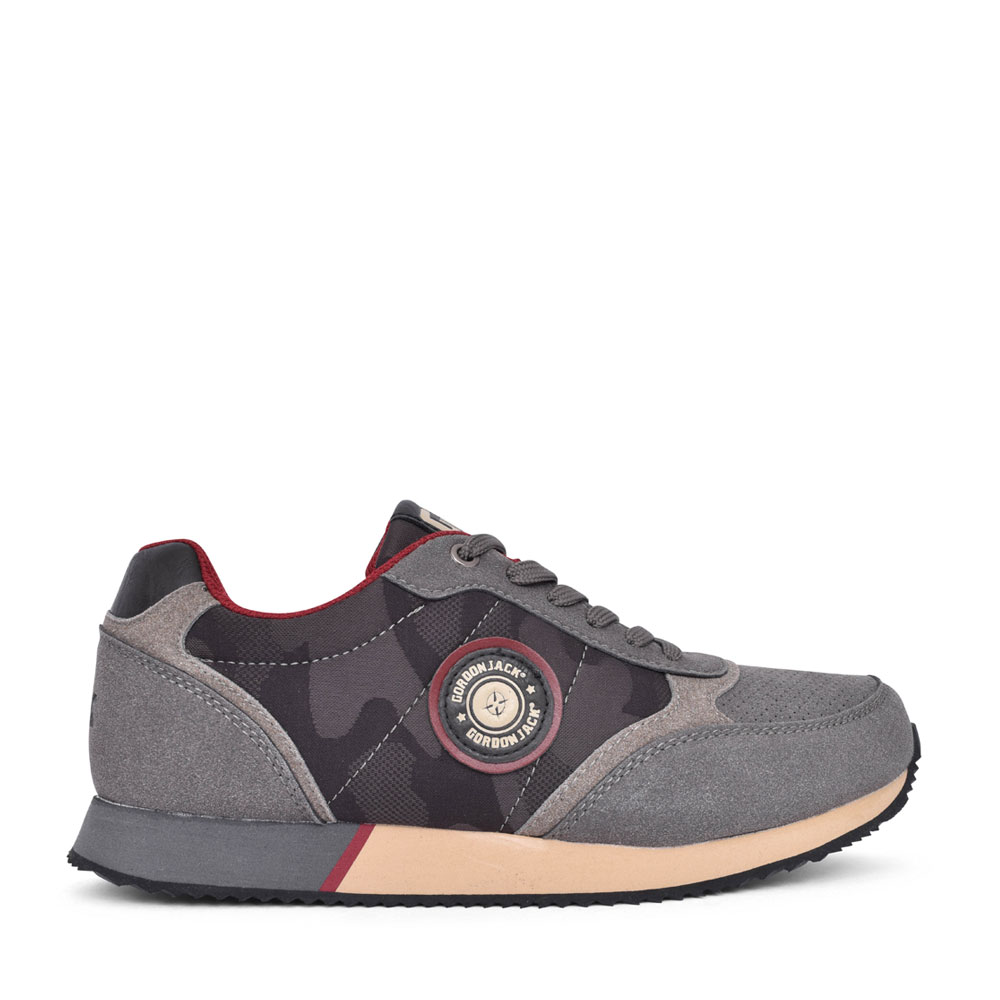 MENS BRISBANE LACE UP TRAINER in GREY