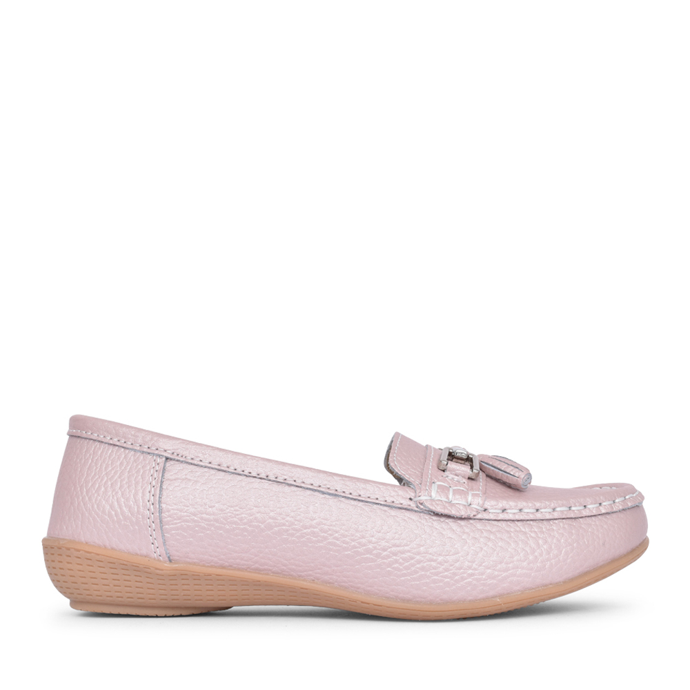 LADIES NAUTICAL SLIP ON SHOE in METALLIC