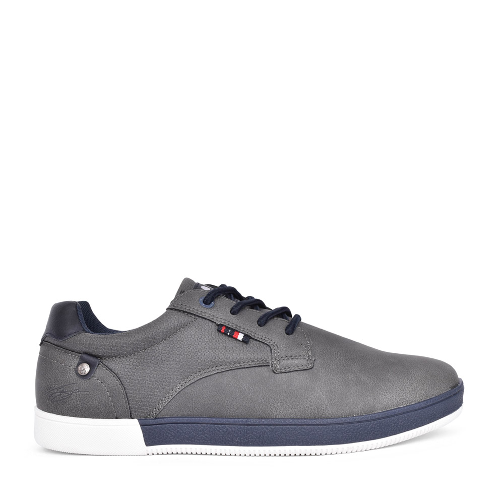 MENS DONNELLY LACED CANVAS SHOE in GREY