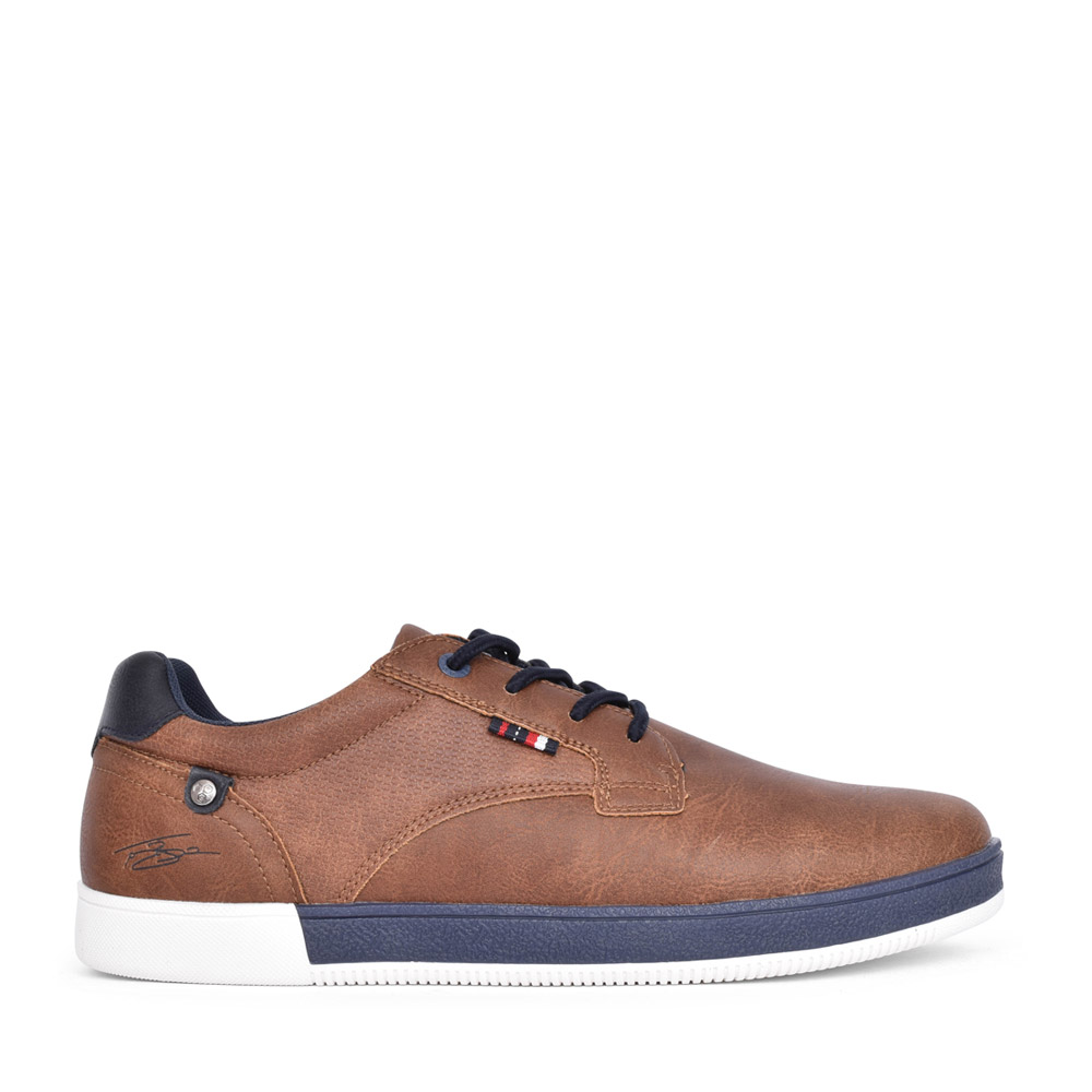 MENS DONNELLY LACED CANVAS SHOE in CAMEL