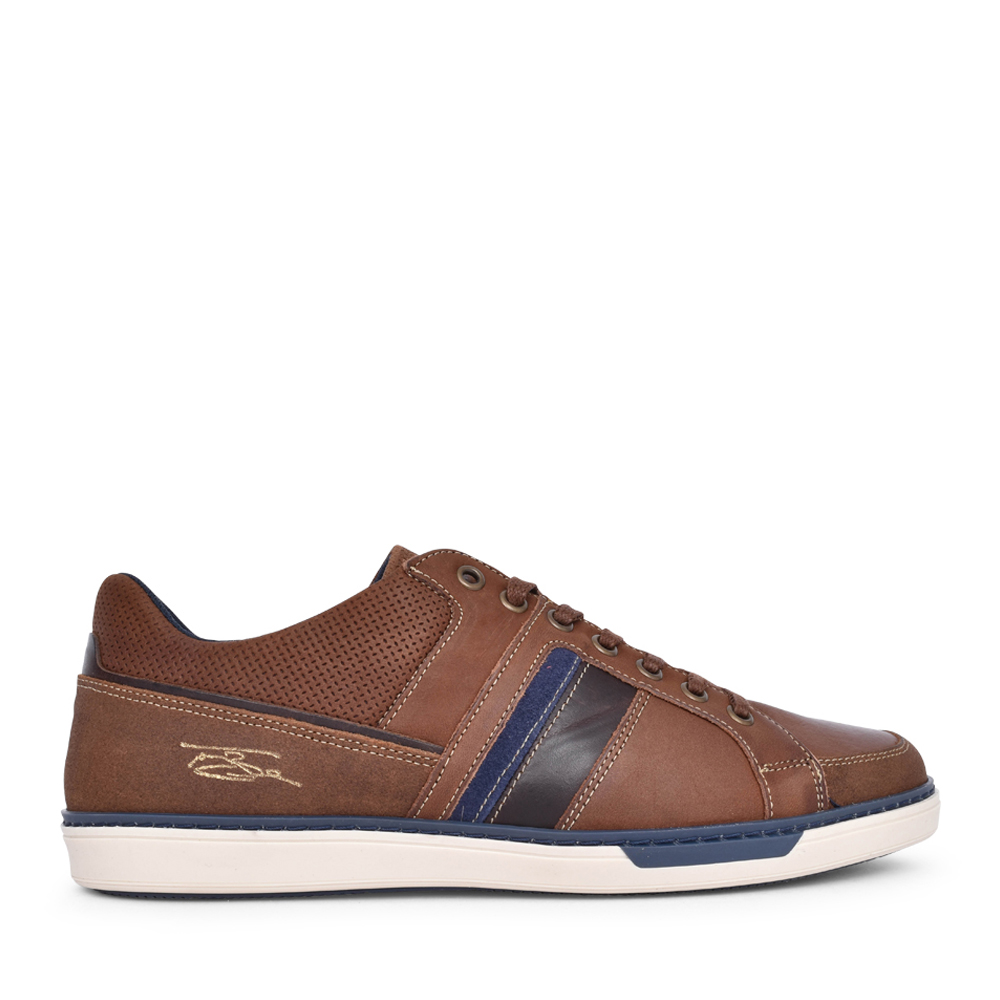 MENS FRANKS LACE UP SHOE in BROWN
