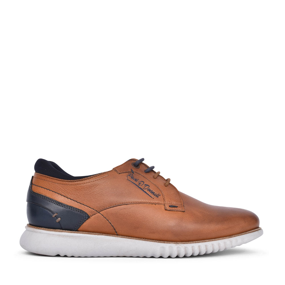 MENS CORVETTE LACE UP SHOE in TAN