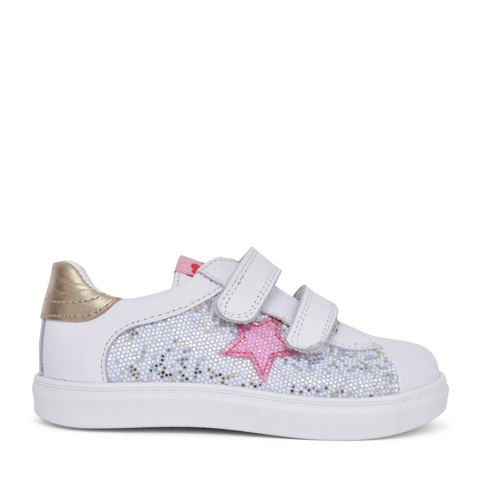 GIRLS 000507 VELCRO SHOE in WHITE