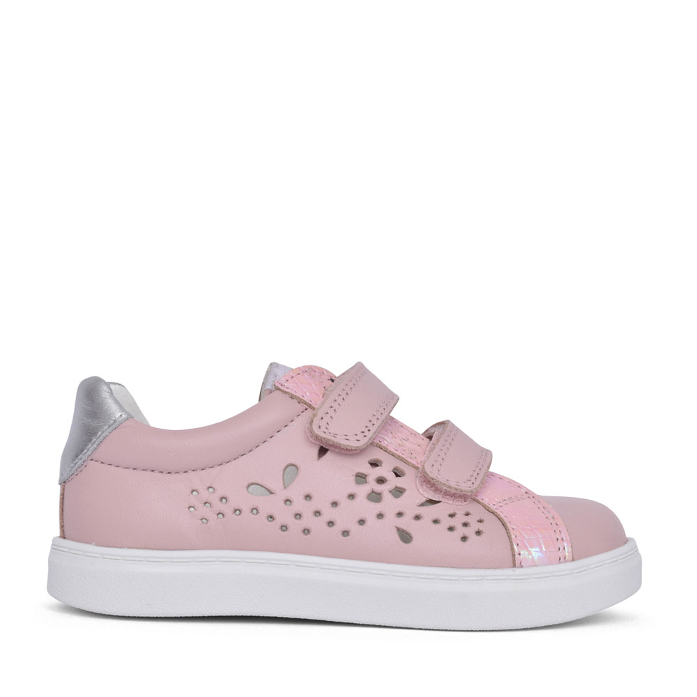 GIRLS 000670 VELCRO SHOE in ROSE