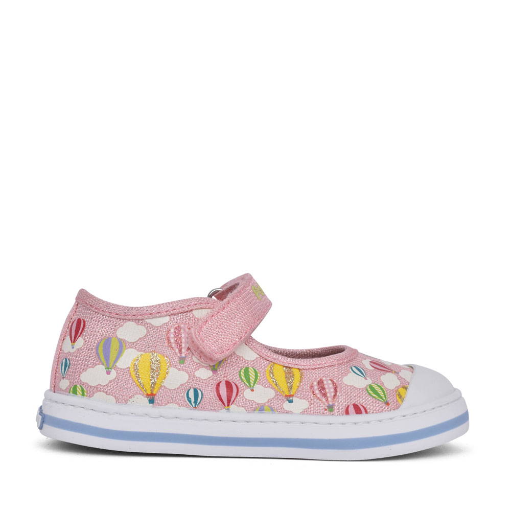 GIRLS 961271 CANVAS VELCRO SHOE in PINK
