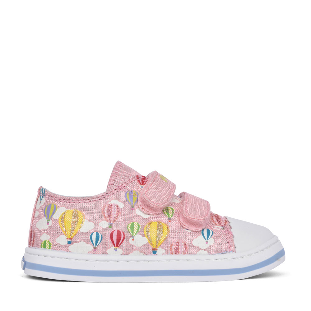 GIRLS 961571 CANVAS VELCRO SHOE in PINK