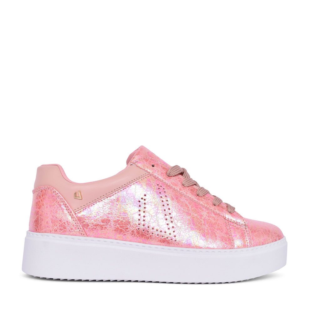 LADIES WILD GRASSES LACE UP SHOE in ROSE