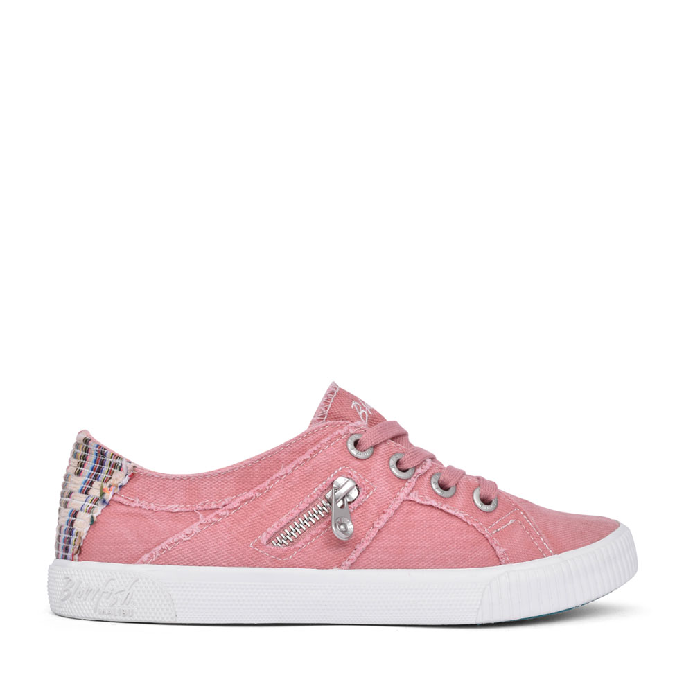LADIES FRUIT ZS-0269 SLIP ON CANVAS SHOE in PINK