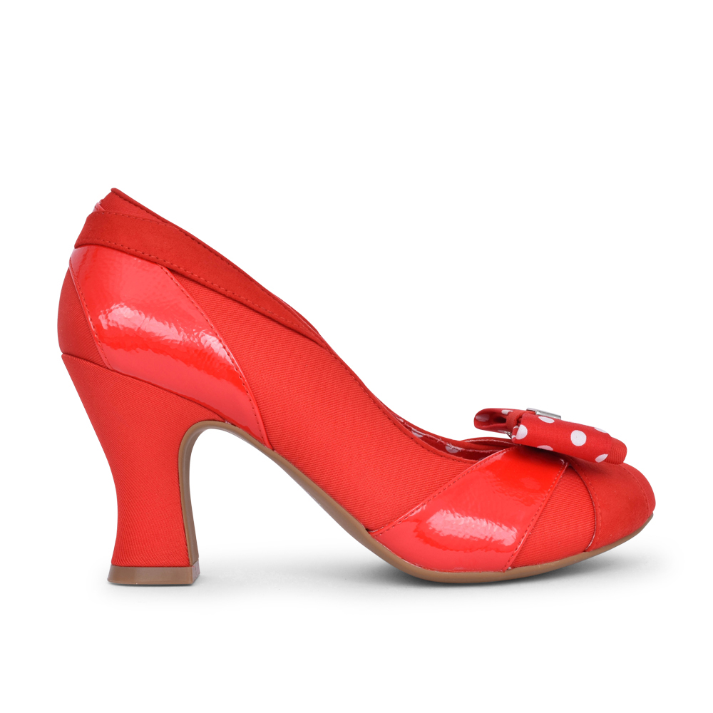 LADIES TATUM COURT SHOE in RED