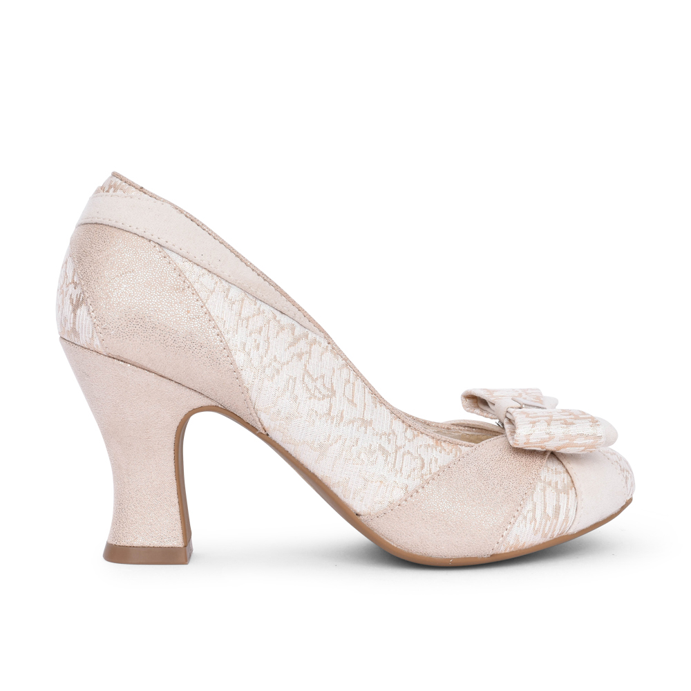 LADIES TATUM COURT SHOE in GOLD