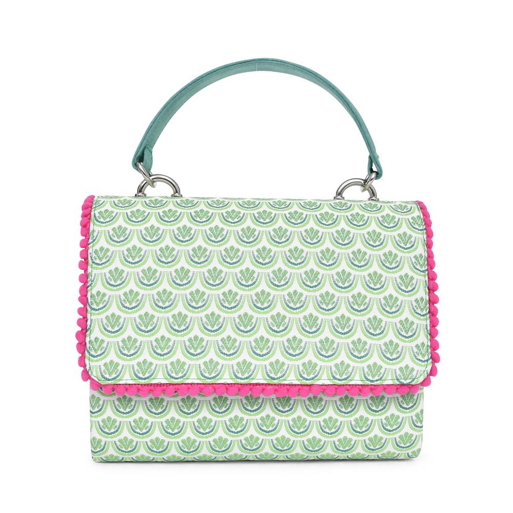 LADIES CLAGARY CLUTCH BAG in GREEN