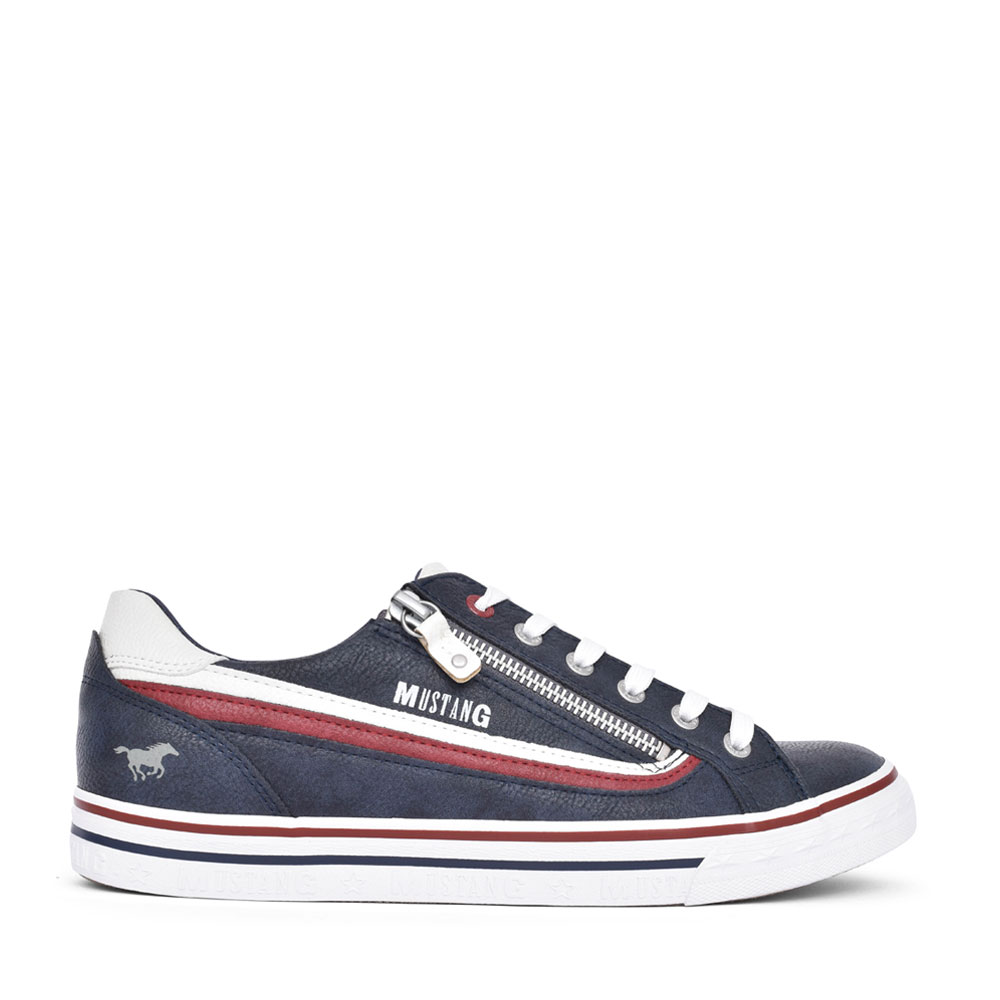 MENS 4147301 LACED TRAINER in NAVY