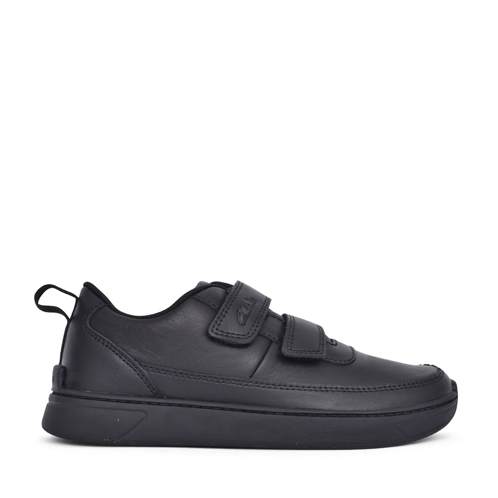 BOYS VIBRANT GLOW BLACK LEATHER SHOE in KIDS H FIT