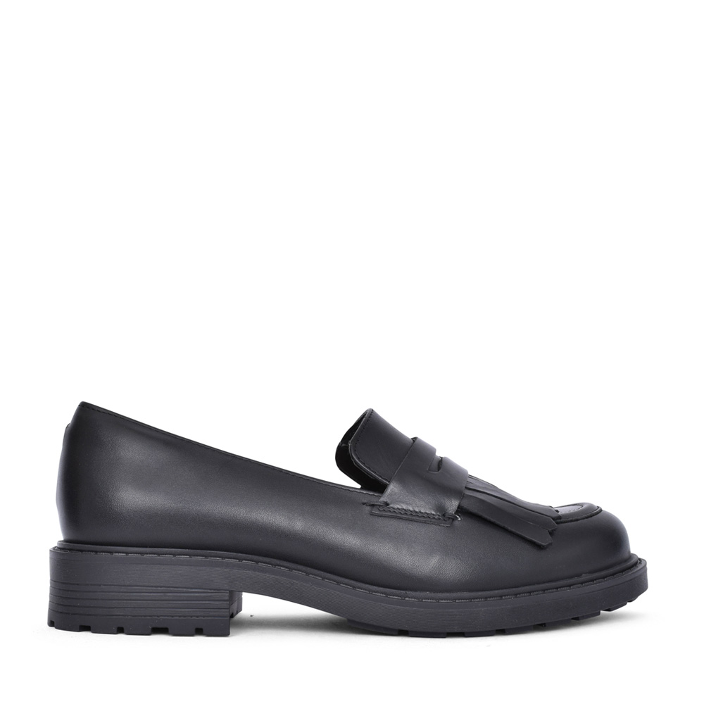 LADIES ORINOCO2LOAFER LEATHER D-FIT SHOE in BLACK