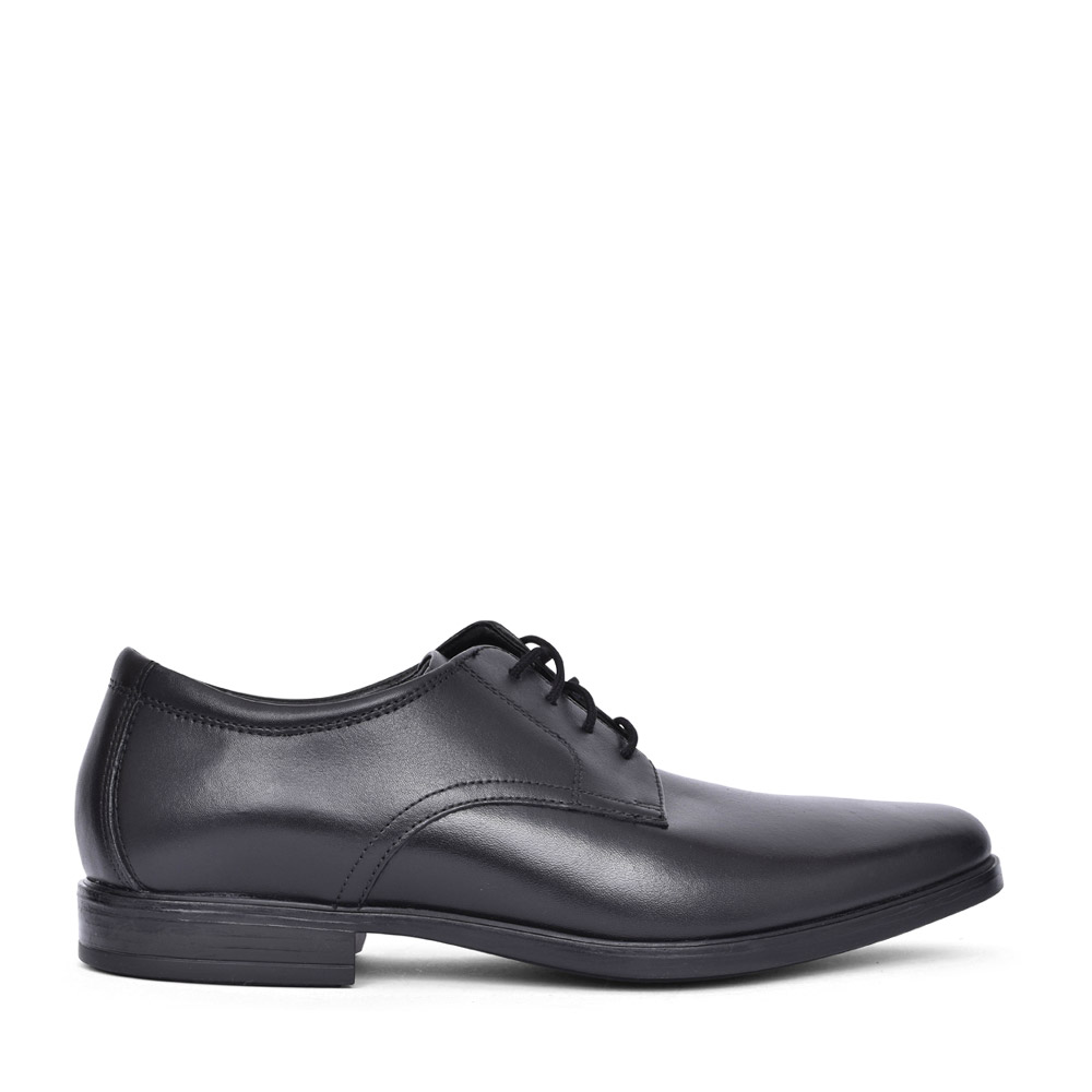 MENS HOWARD WALK LEATHER G-FIT LACED SHOE in BLK LEATHER