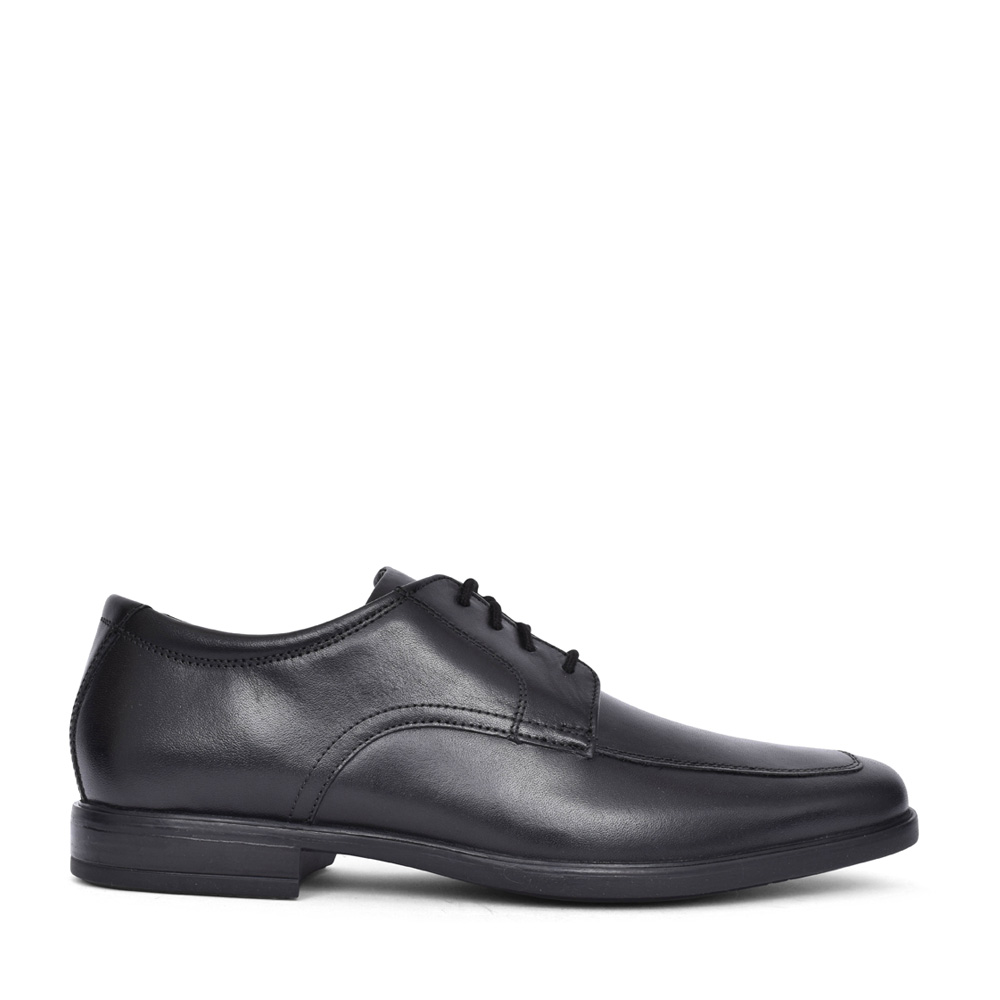 MEN'S HOWARD APRON LEATHER G-FIT LACED SHOE in BLK LEATHER