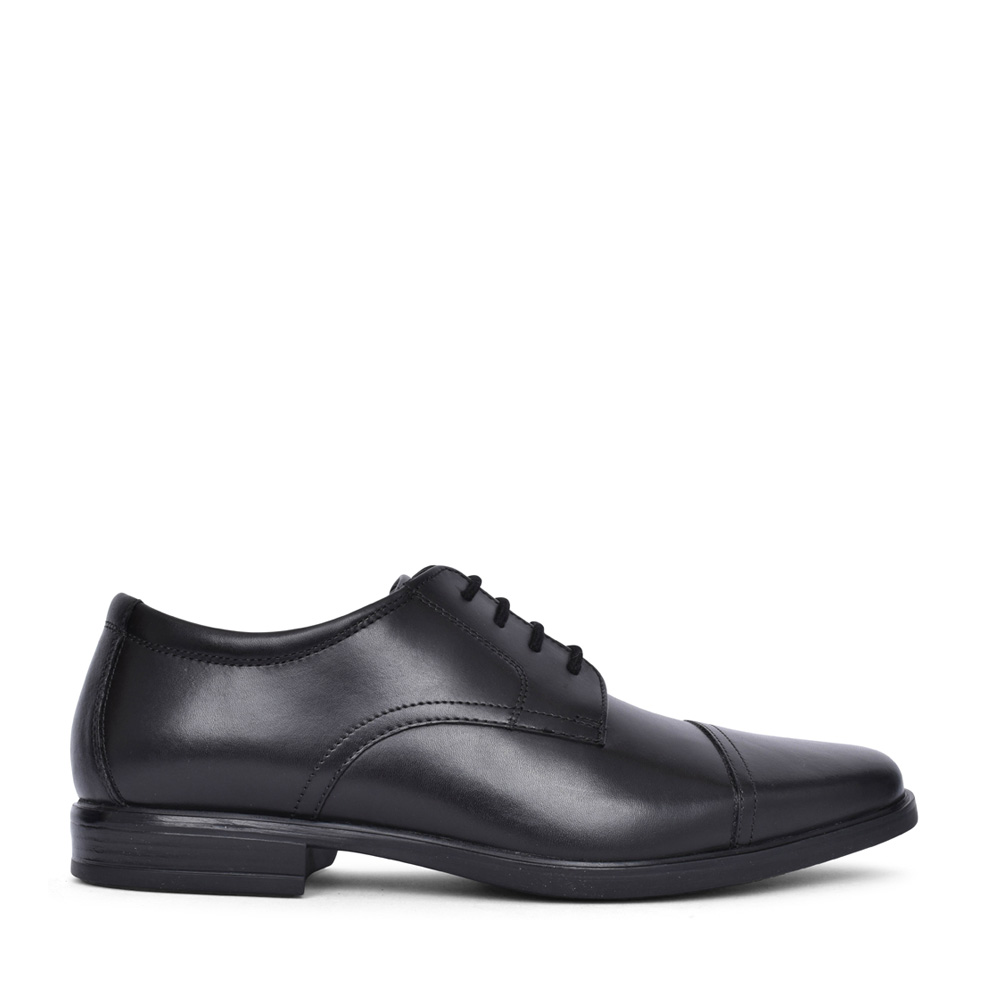 MEN'S HOWARD CAP LEATHER G-FIT LACED SHOE in BLK LEATHER