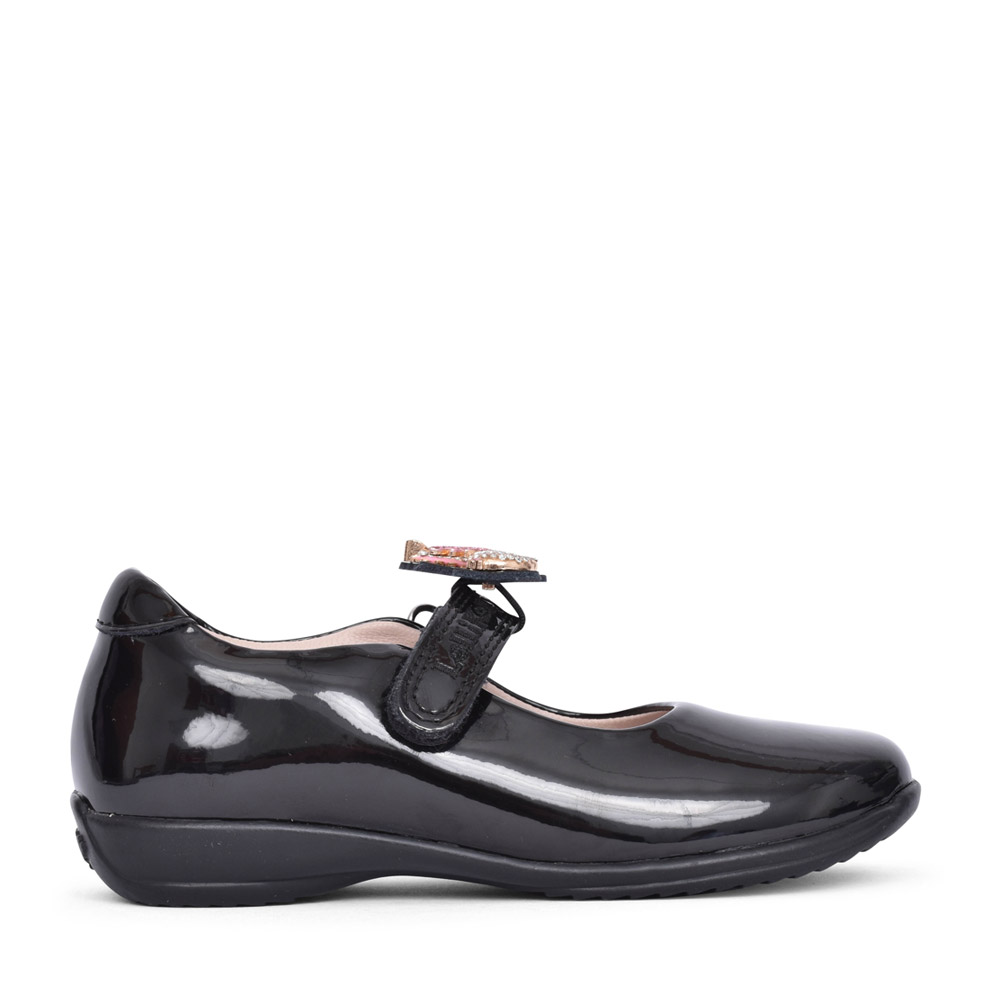 GIRLS LK8110 BLISS F-FIT SHOE in BLK PATENT