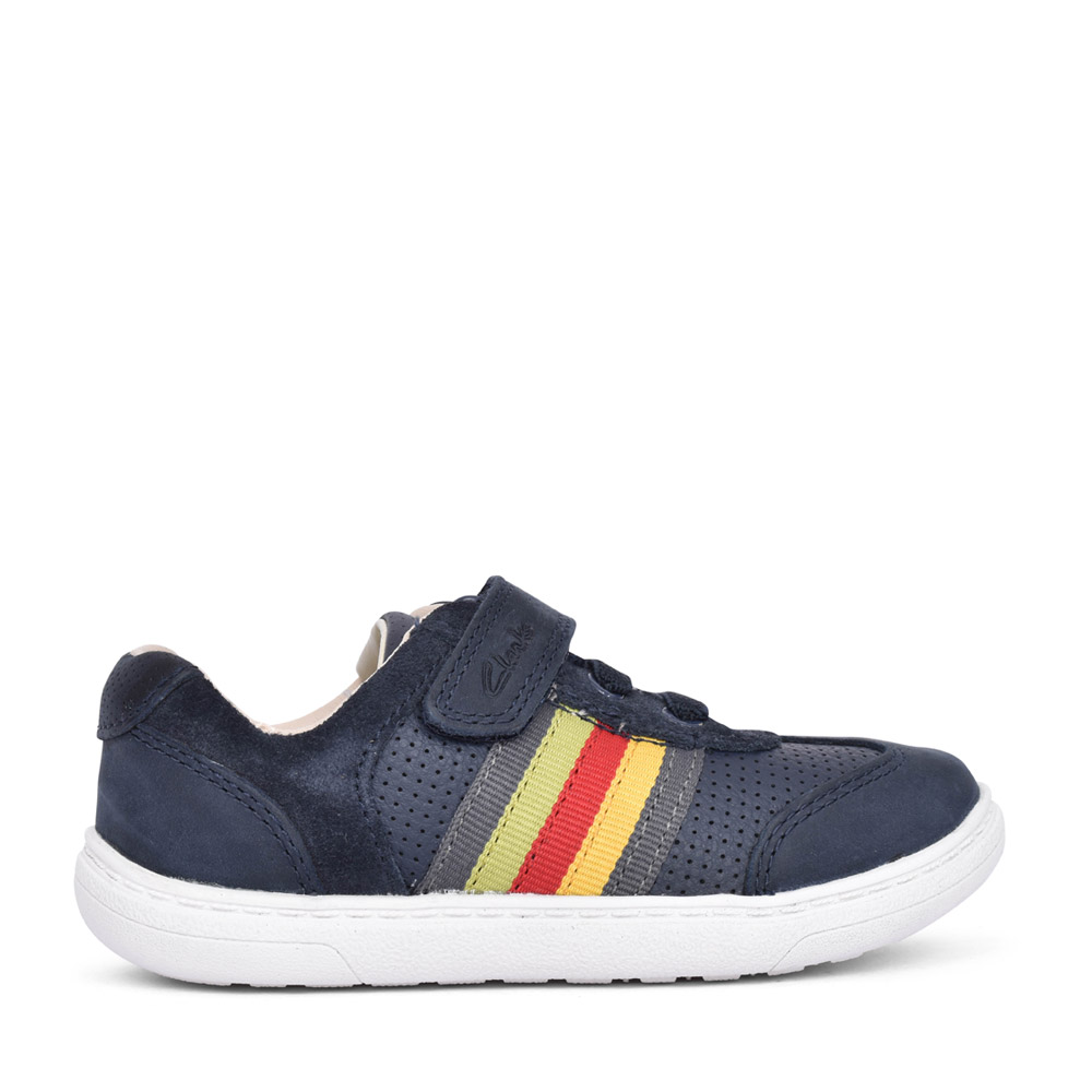 BOYS TODDLER FLASH STEP NAVY LEATHER SHOE in KIDS F FIT