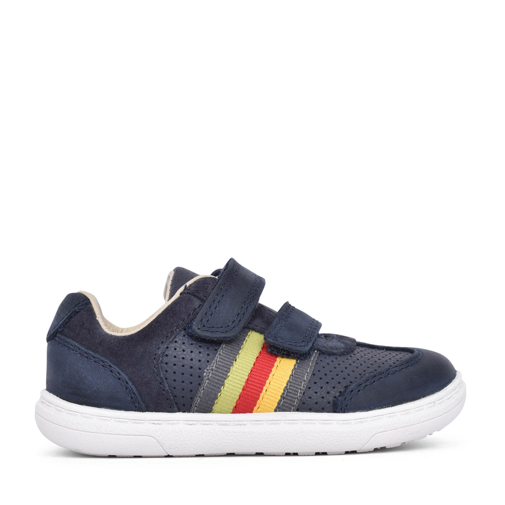 BOYS TODDLER FLASH BEAU NAVY LEATHER SHOE in KIDS G FIT