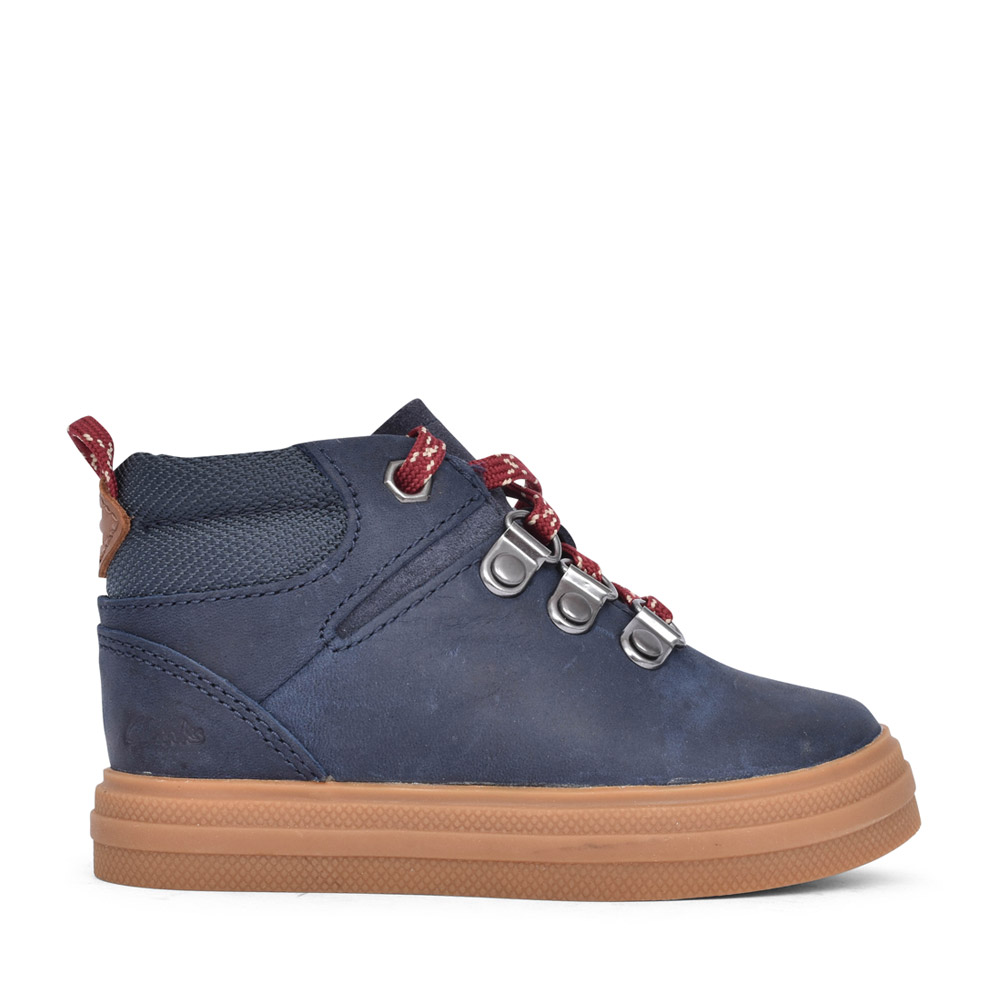 BOYS TODDLER NOVA HIKE NAVY LEATHER BOOT in KIDS F FIT