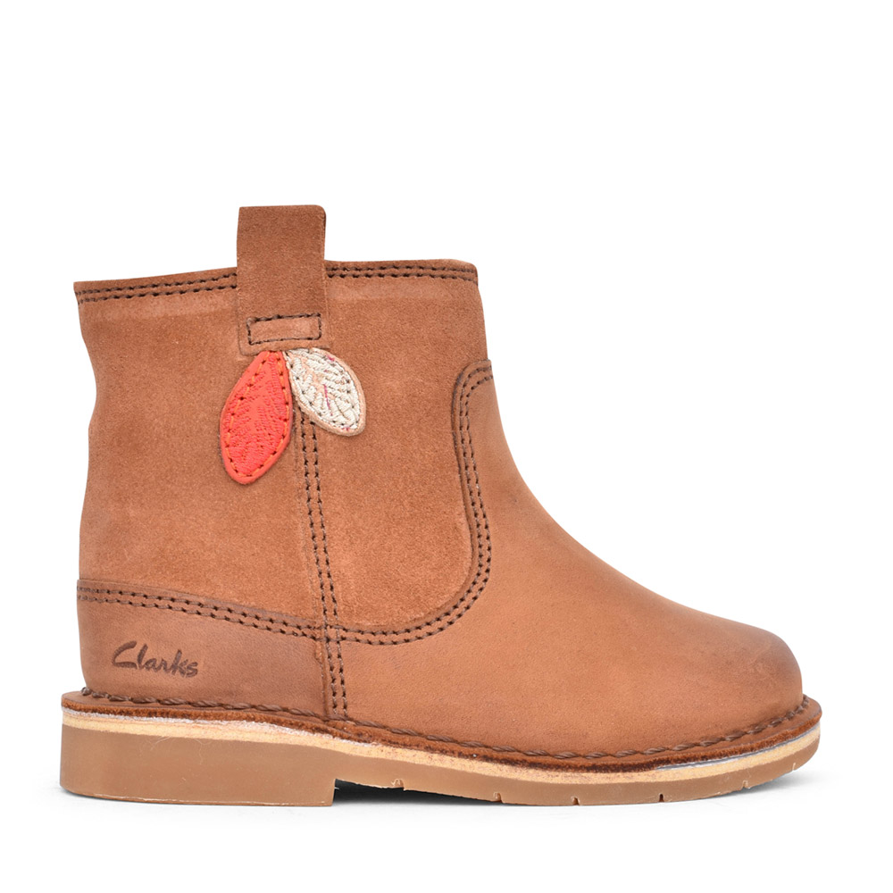 GIRLS TODDLER COMET STYLE TAN LEATHER BOOT in KIDS F FIT