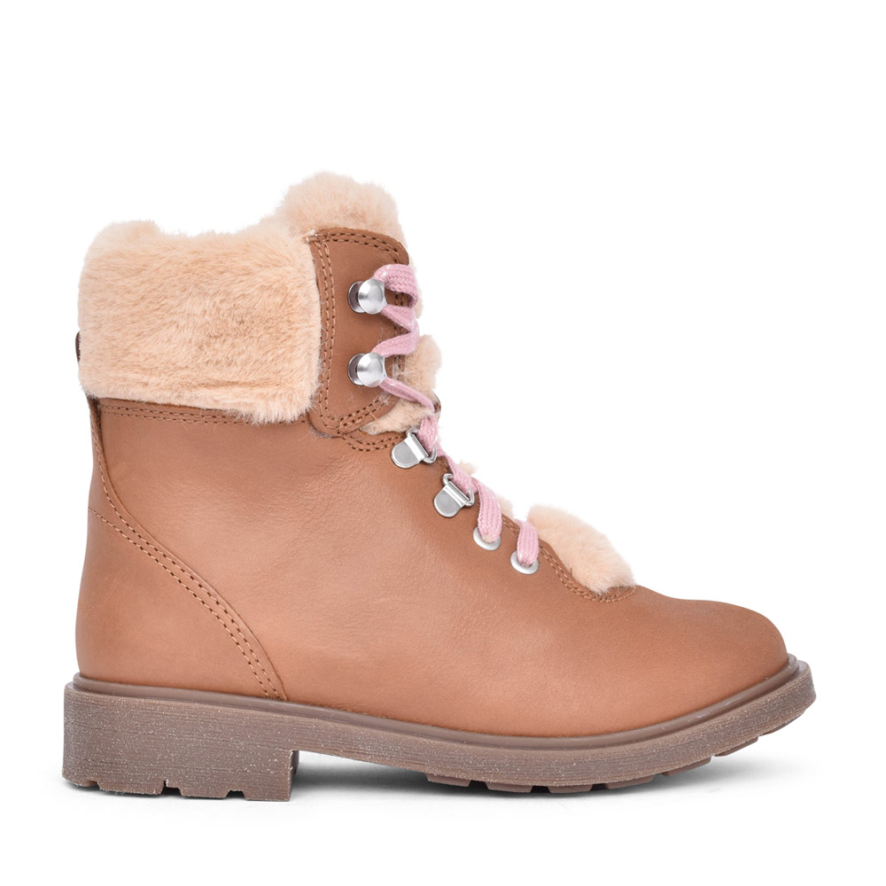 GIRLS ASTROL HIKER TAN LEATHER BOOT in KIDS F FIT
