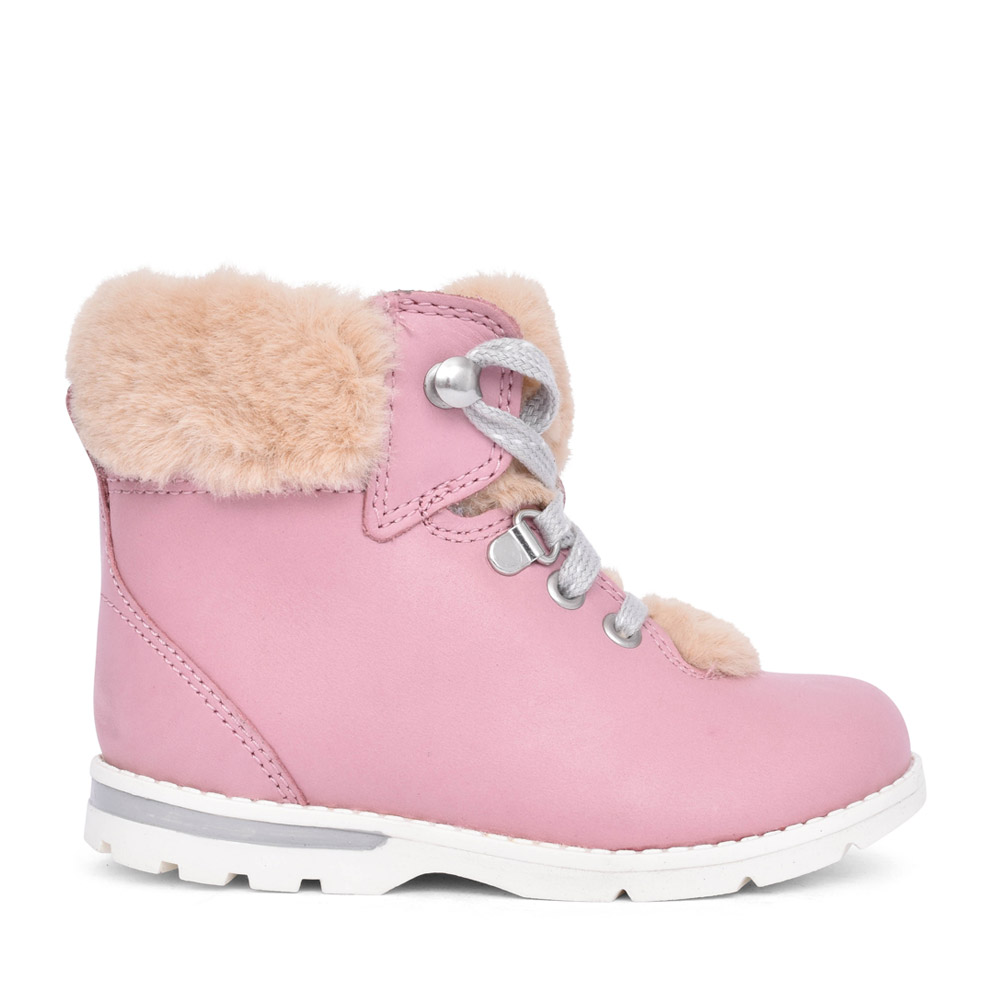 GIRLS TODDLER DABI HIKER PINK LEATHER BOOT in KIDS F FIT