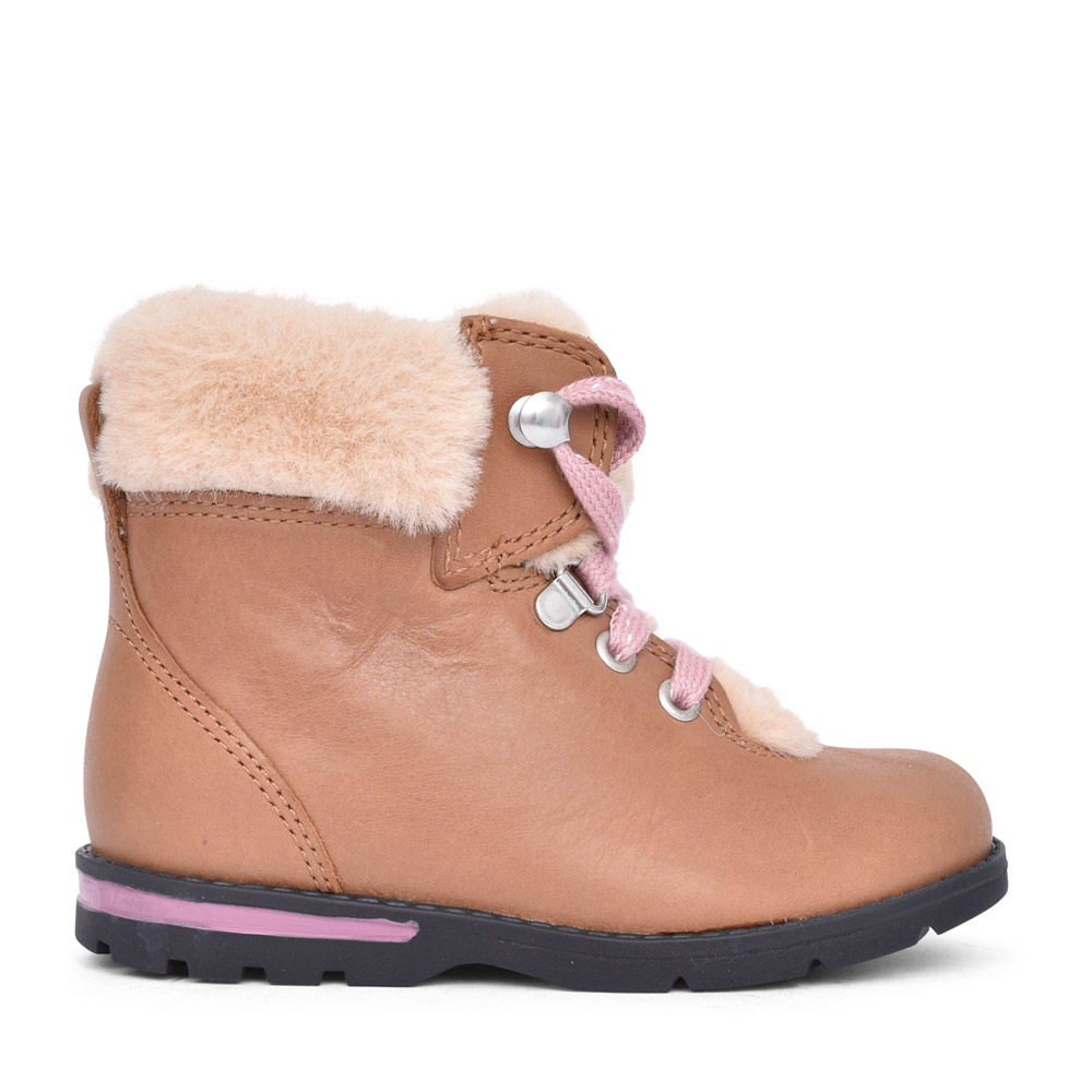 GIRLS TODDLER DABI HIKER TAN LEATHER BOOT in KIDS F FIT