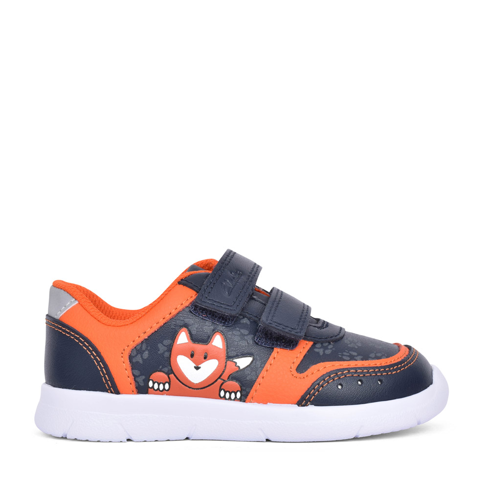 BOYS TODDLER ATH DOT NAVY LEATHER SHOE in KIDS F FIT