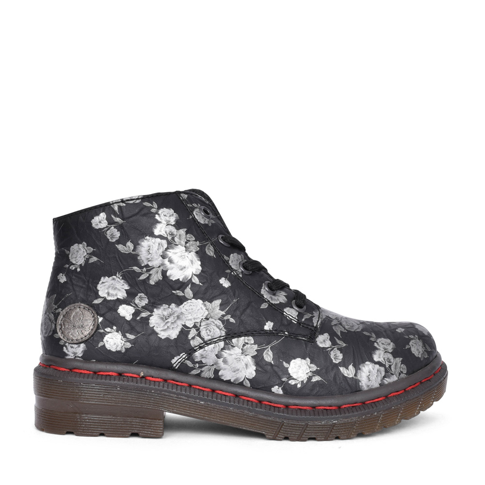 LADIES 56232 LACED ANKLE BOOT in FLORAL