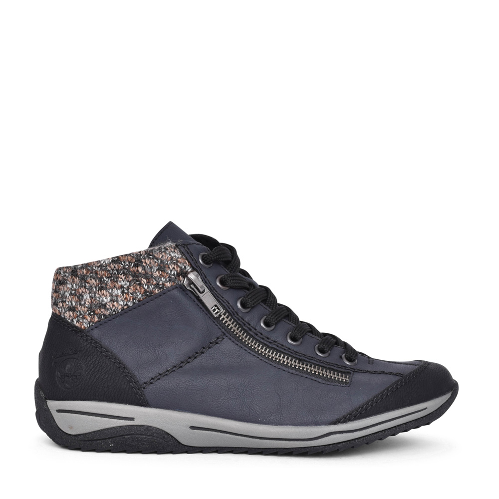 LADIES L5223 LACED ANKLE BOOT in NAVY