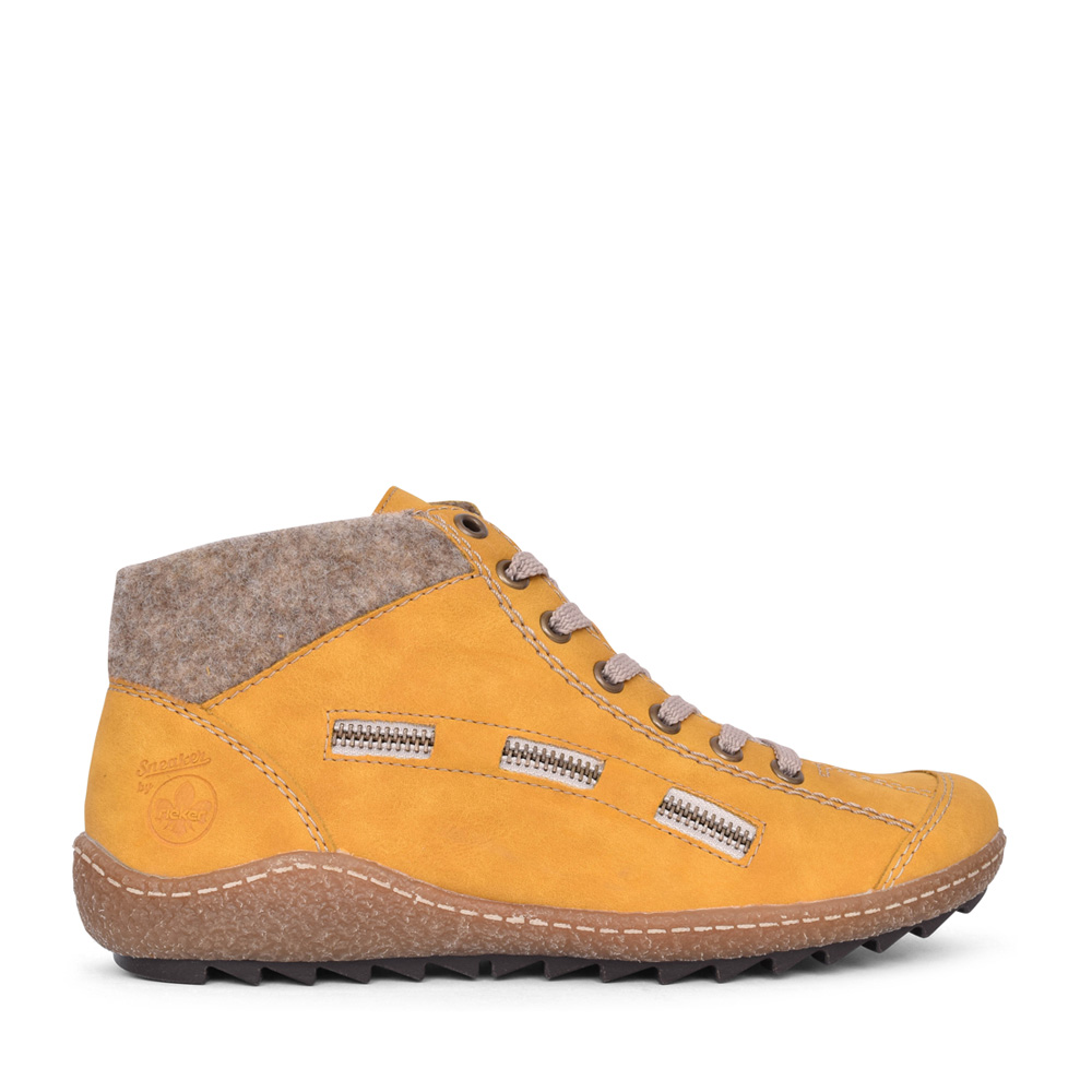 LADIES L7543 LACED ANKLE BOOT   in YELLOW