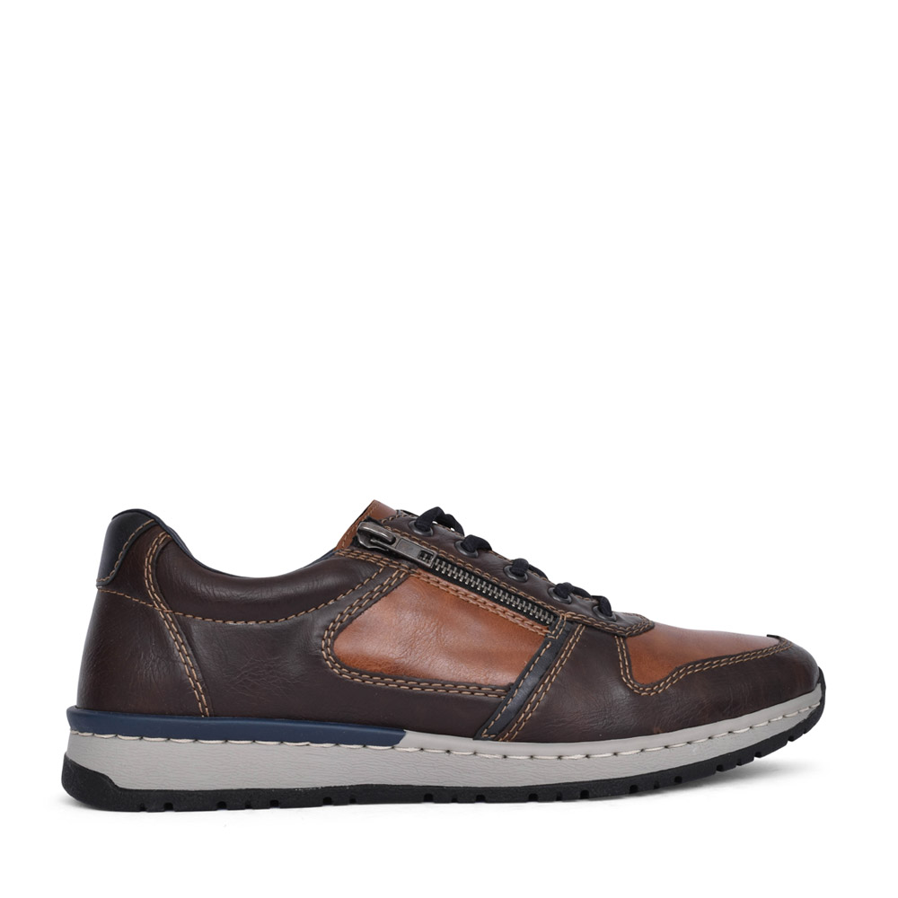 MENS B5124 LACED SHOE in BROWN