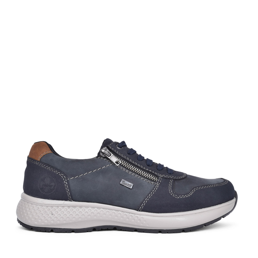 MENS B7613 TEX LACED TRAINER in NAVY